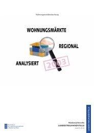 Wohnungsmärkte regional analysiert 2003 (938 KB) - bei der NBank