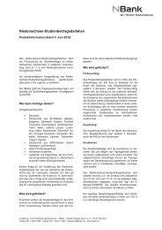 Niedersachsen-Studienbeitragsdarlehen - bei der NBank