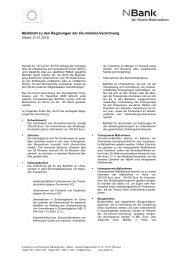 Merkblatt zu den Regelungen der De-minimis ... - bei der NBank
