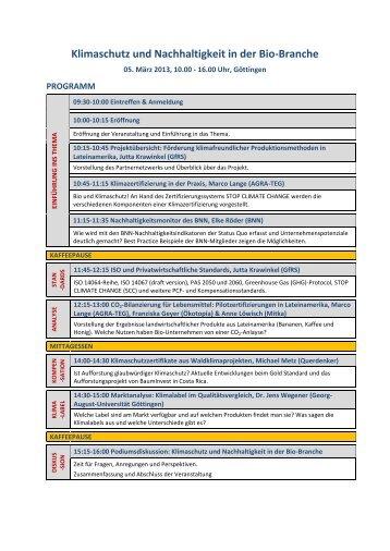 Programm - Lateinamerika Verein eV