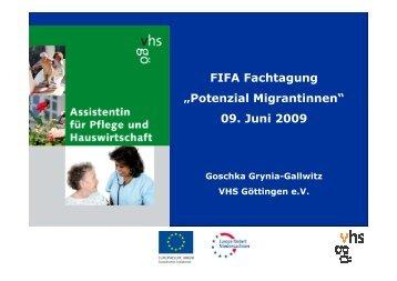 Assistentin für Pflege und Hauswirtschaft_VHS ... - bei der NBank
