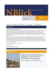 Städtebauförderung im Rahmen des Programms ... - bei der NBank