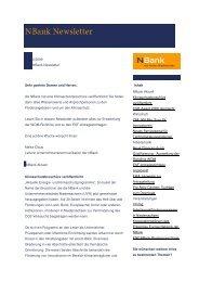 NBank Newsletter 2009/02 - bei der NBank