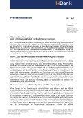 Presseinformation - bei der NBank - Page 7