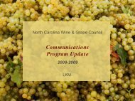 Communications Program Update - North Carolina Department of ...