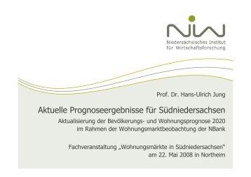 Ulrich Jung - Neue Prognosen - bei der NBank