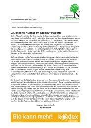 Glückliche Hühner im Stall auf Rädern - Bundesverband Naturkost ...