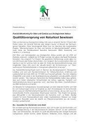 Qualitätsvorsprung von Naturkost bewiesen - BNN Herstellung und ...