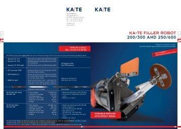 KA-TE FILLER ROBOT 200/300 AND 250/600 - KA-TE PMO AG