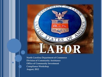 Labor Standards - Department of Commerce