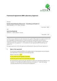 Framework Agreement BNN Laboratory Approval - BNN Herstellung ...