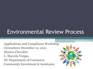 Environmental Review Process - Department of Commerce