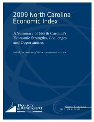 2009 North Carolina Economic Index - North Carolina Department of ...