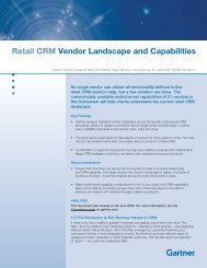 Retail CRM Vendor Landscape and Capabilities - NCR