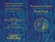 2013 Road Show - Department of Commerce