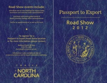 Road Show - Department of Commerce