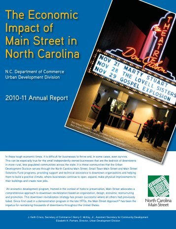 The Economic Impact of Main Street in North Carolina
