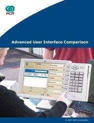 Advanced User Interface Comparison - NCR