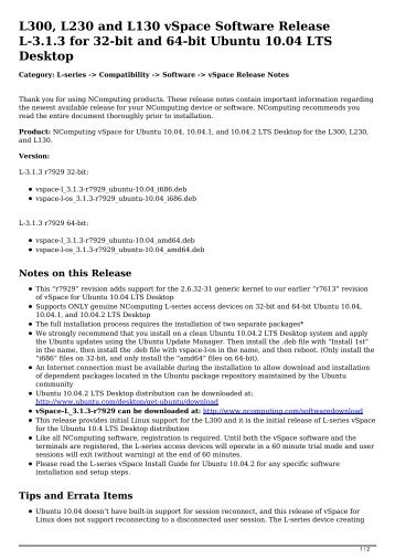 ncomputing x550 software for windows 7 32 bit