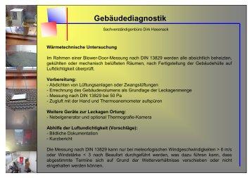 Gebäudediagnostik - Dirk Hasenack