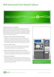 NCR Automated Coin Deposit Sidecar