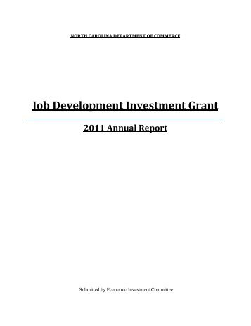 2011 JDIG Annual Report - Department of Commerce