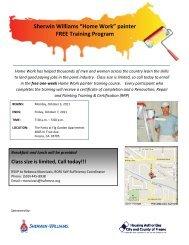 "Sherwin Williams ""Home Work"" painter FREE Training Program"