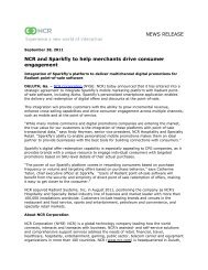 NEWS RELEASE NCR and Sparkfly to help merchants drive ...