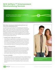 NCR SelfServ™ Entertainment Merchandising Services