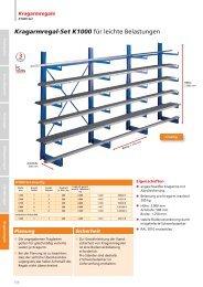 Kragarmregal-Set K1000 für leichte Belastungen - Nelke GmbH