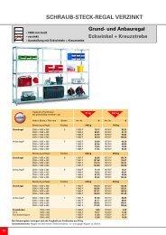 SCHRAUB-STECK-REGAL VERZINKT - Nelke GmbH