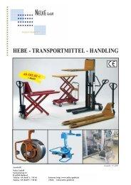 HEBE - TRANSPORTMITTEL - HANDLING - Nelke GmbH