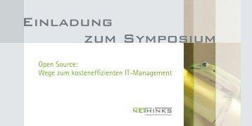 Einladung zum Symposium - NETHINKS GmbH