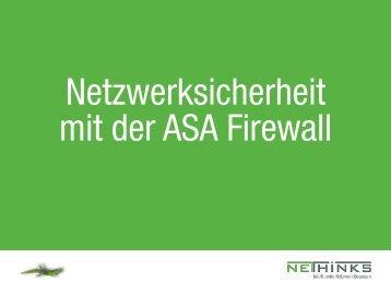 Netzwerksicherheit mit der ASA Firewall - NETHINKS GmbH