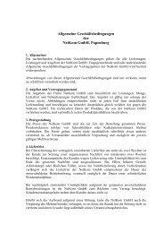 Allgemeine Geschäftsbedingungen - NetKom GmbH