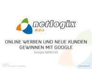 Online werben und neue Kunden gewinnen mit Google