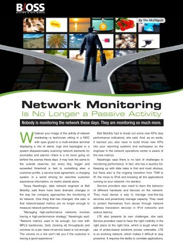 Network Monitoring Is No Longer a Passive Activity - NetScout