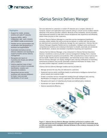 nGenius Service Delivery Manager - NetScout
