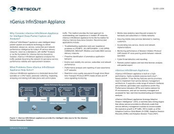 nGenius InfiniStream Appliance - NetScout