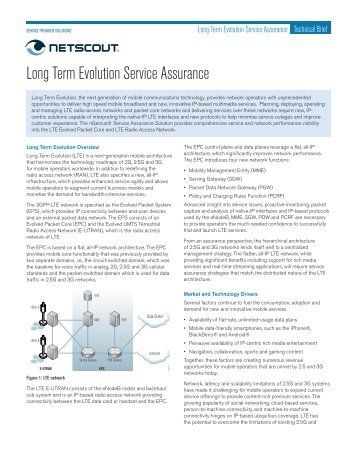 Long Term Evolution Service Assurance - NetScout