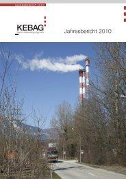 Jahresbericht 2010 - Kebag
