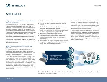 Sniffer Global Analyzer - NetScout