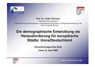 Präsentation Prof. Dr. Volker Eichener - Städte-Netzwerk NRW