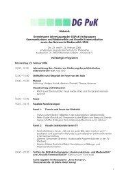 Tagungsprogramm 2006 - Netzwerk Medienethik