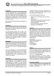 Informationen für Patienten und Besucher - Krankenhaus Neu ...