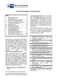 Neue Pflichtangaben für Rechnungen - IHK Neubrandenburg