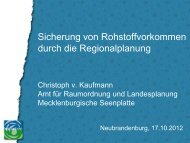 Sicherung von Rohstoffvorkommen durch die Regionalplanung