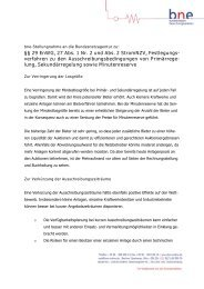 Stellungnahme bne - Bundesverband Neuer Energieanbieter