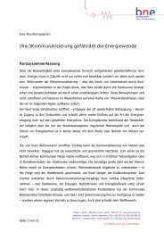 bne-Positionspapier zur Rekommunalisierung - Bundesverband ...