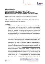 Kabinettfassung einer Verordnung zur Novelle der ...